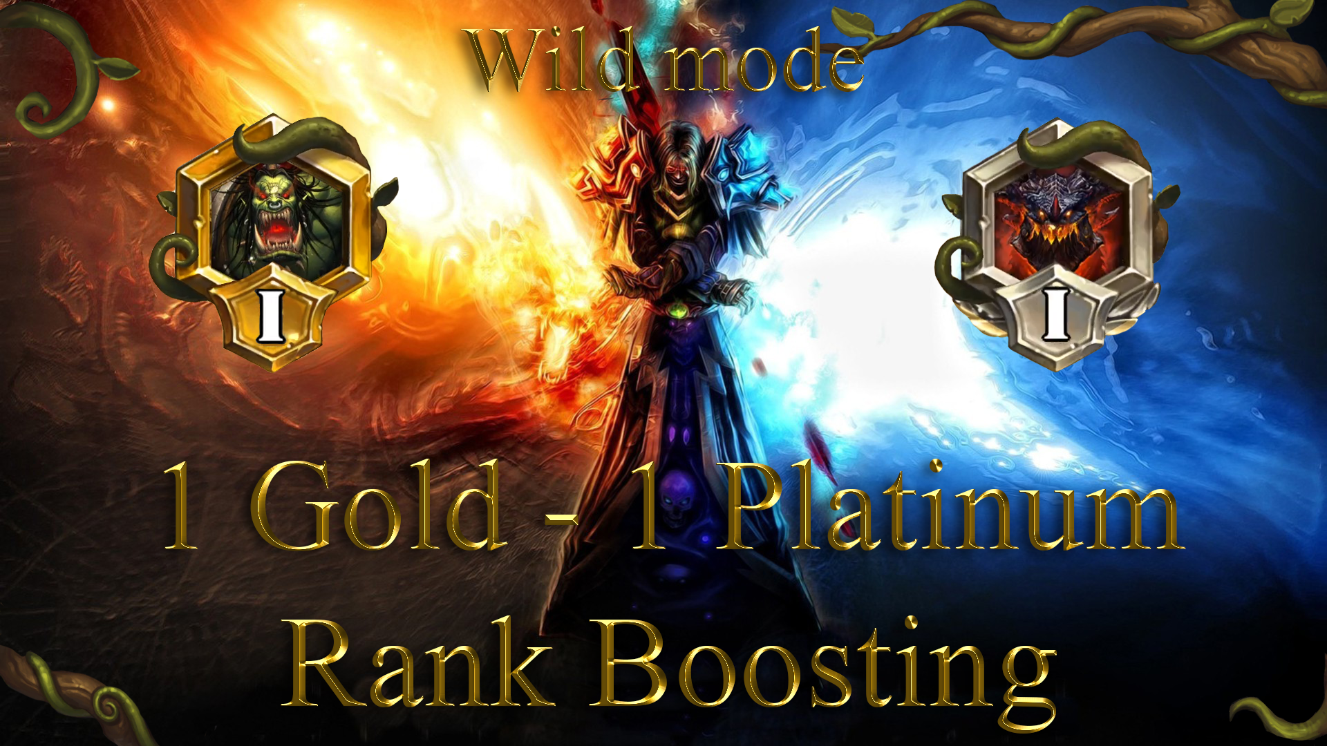 HEARTHSTONE: 1 RANK (GOLD) - 1 RANK (PLATINUM) WILD MODE GBD - e2p.com