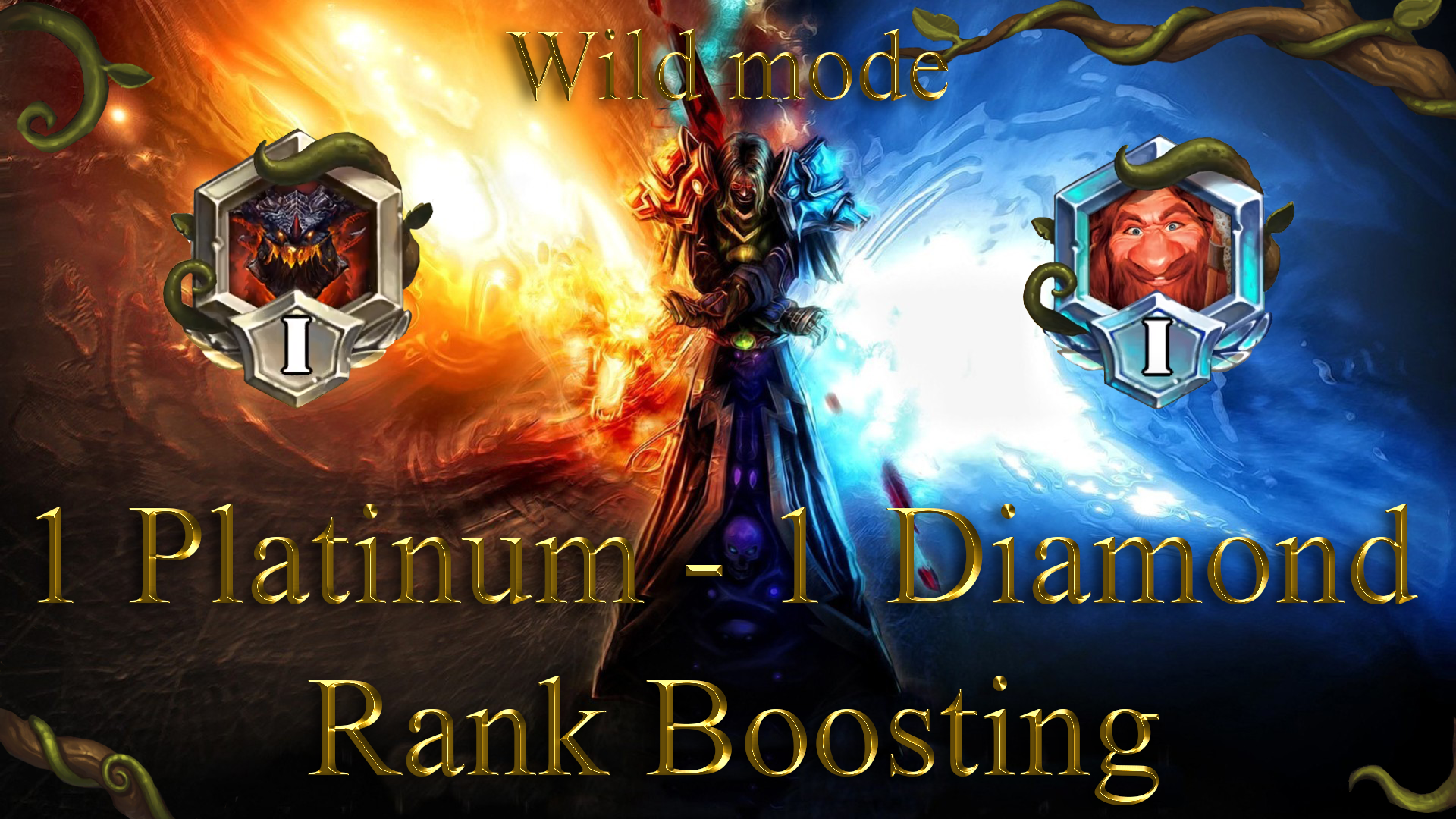 HEARTHSTONE: 1 RANK (PLATINUM) - 1 RANK (DIAMOND) WILD MODE Sedovlasiy - e2p.com