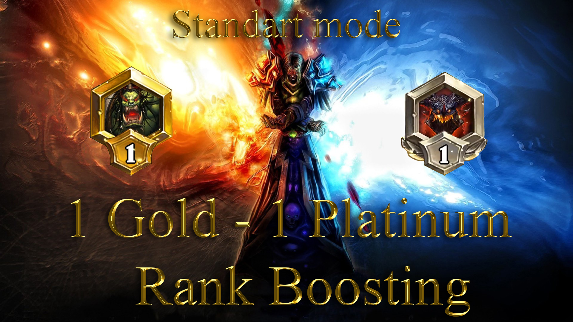 HEARTHSTONE: 1 RANK (Gold) - 1 RANK (Platinum) STANDART MODE GBD - e2p.com