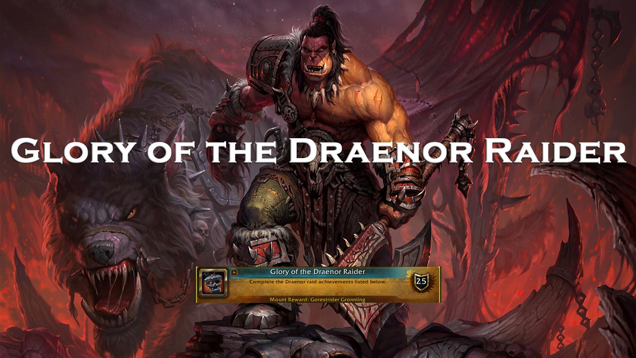 Glory of the Draenor Raider MythicBooster - e2p.com
