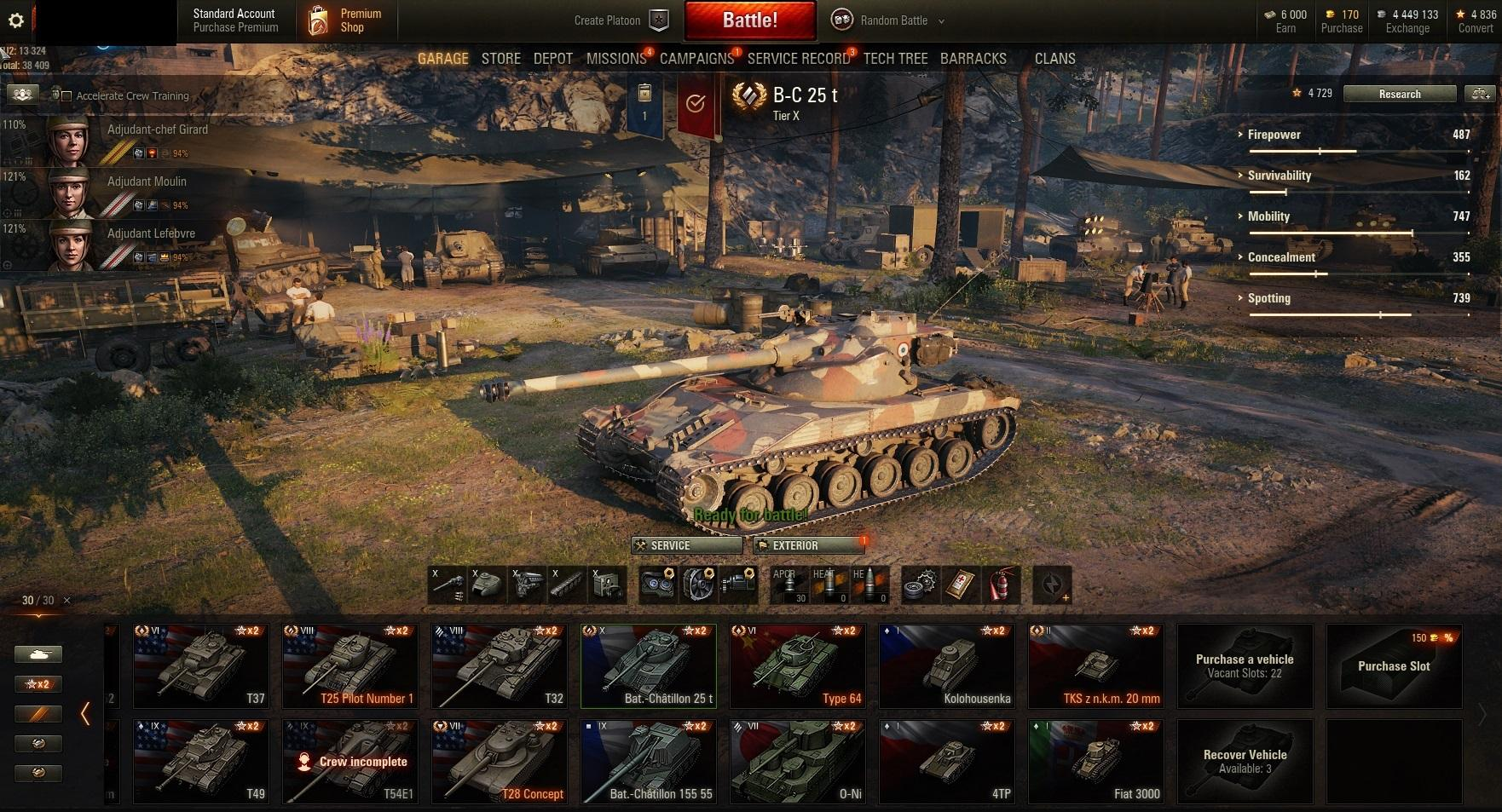 Personal Rating:3775! Victories:47%! 27 ALL TANKS: Bat.-Chatillon 25 t! T26E4 SuperPersing, T-50-2, Churchill III !