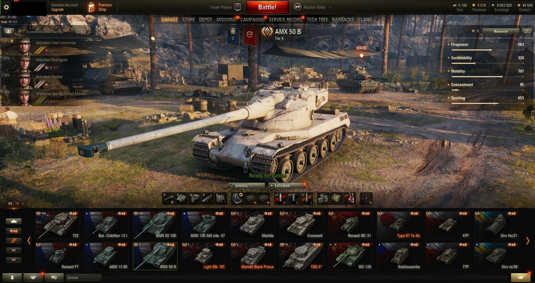 Personal Rating:5253! Victories:48,98%! 69 TANKS: FCM 36 Pak 40, 8,8 cm Pak 43 Jagdtiger! Gold: 5 515!!