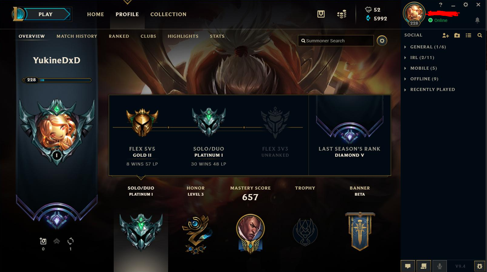 Diamond IV account