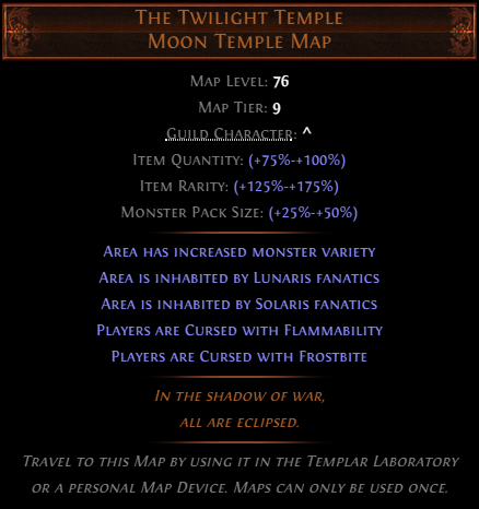 The Twilight Temple Moon Temple Map