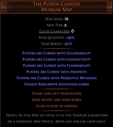 The Putrid Cloister Museum Map Allboost - e2p.com