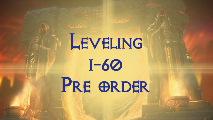 Leveling 1-60 EU Alliance PVP