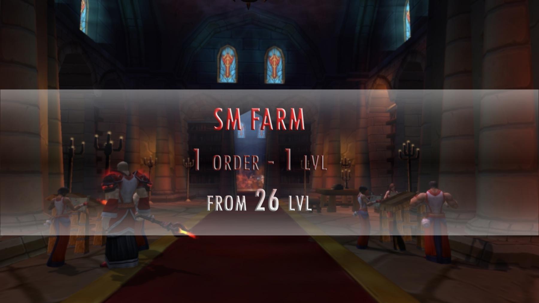 SM Exp Farm 1 lvl - 1 order
