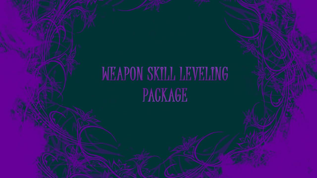 Weapon skill leveling! 2 for 1! GBD - e2p.com