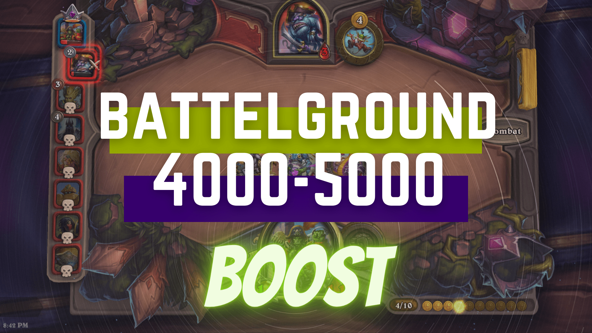 [Battlegrounds rating] Boost from 4000 to 5000 (price for +100) Zafari - e2p.com