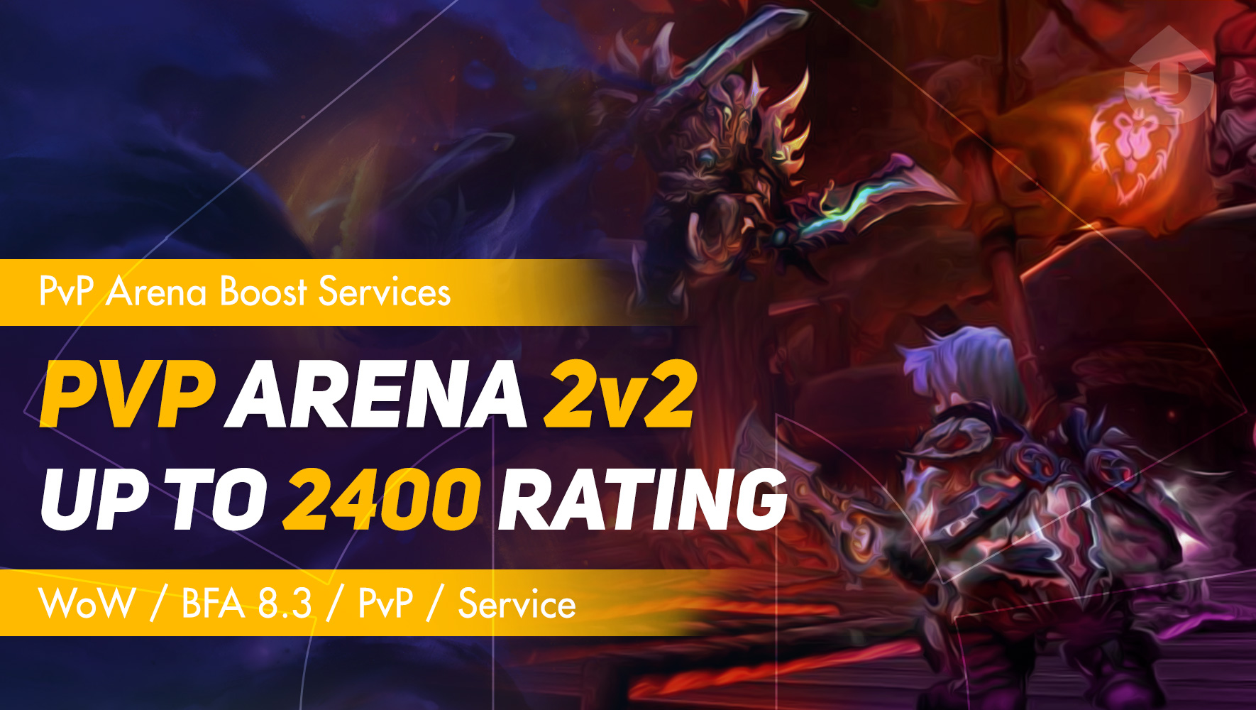 WoW PvP Arena 2v2 Rating Boost up to 2400