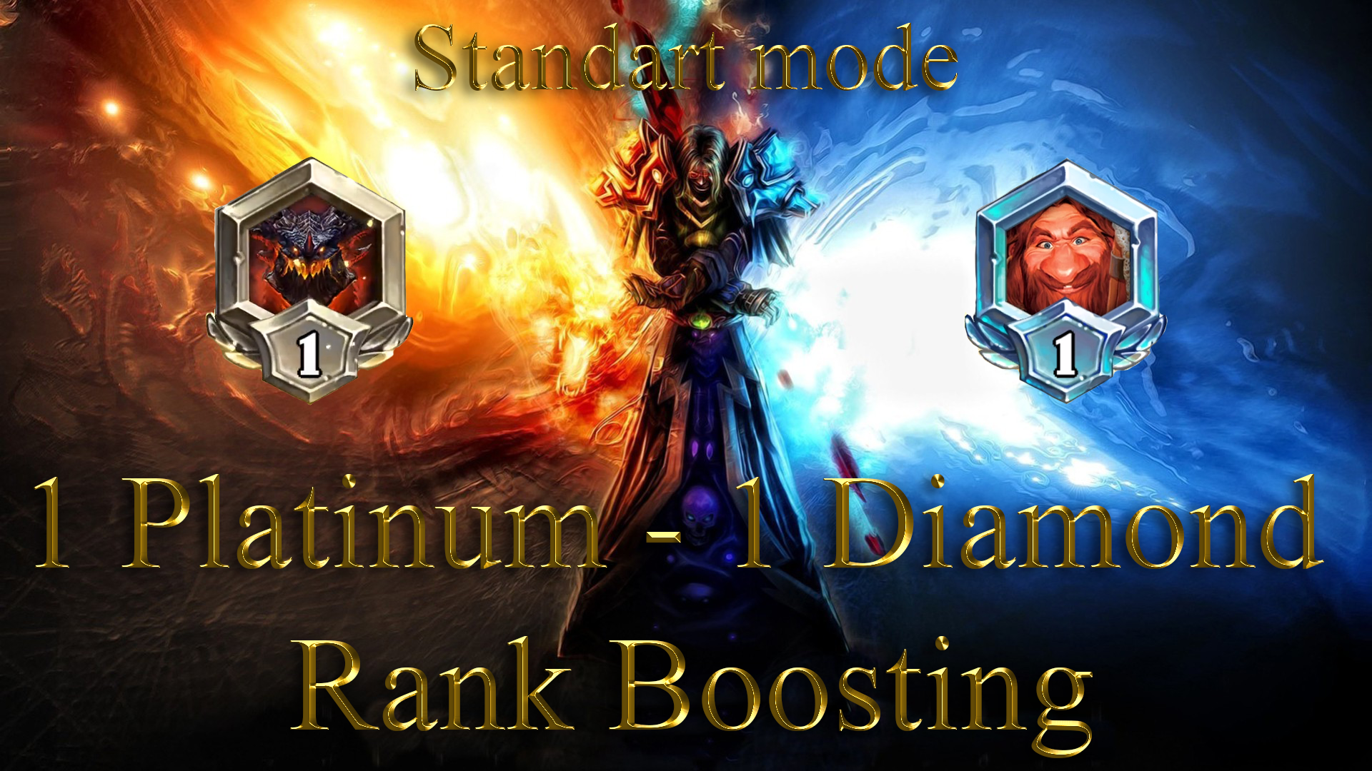 HEARTHSTONE: 1 RANK (PLATINUM) - 1 RANK (DIAMOND) STANDART MODE GBD - e2p.com